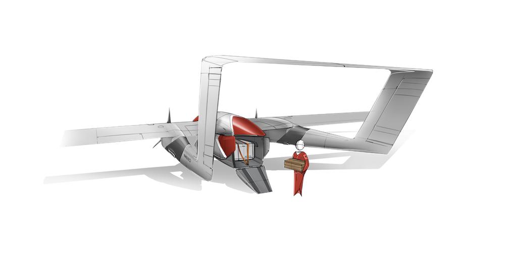 Aircraft aft view